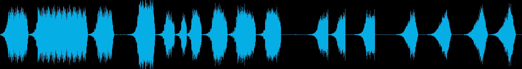 シンセの後方上昇の再生済みの波形
