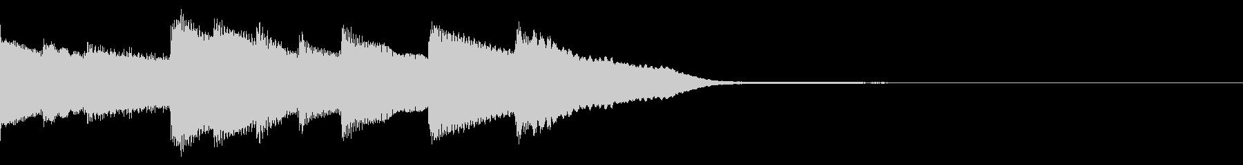 明るくて可愛いチェレスタのジングルの未再生の波形