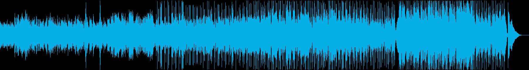 ミドルテンポの切なくノスタルジックな曲の再生済みの波形