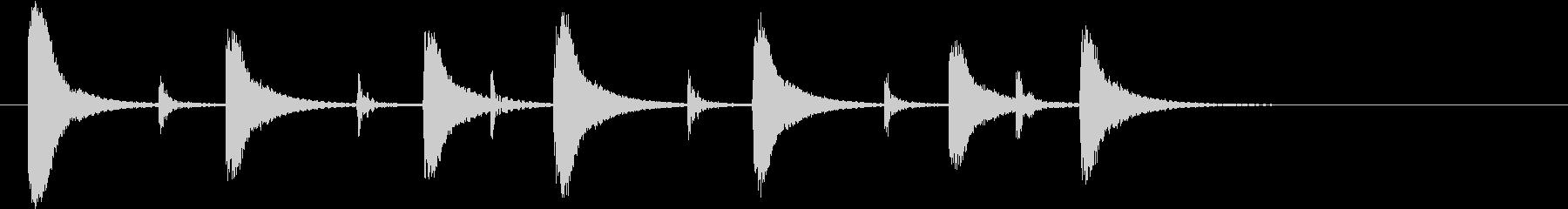 インド桶太鼓Dhol(ドール)フレーズ音の未再生の波形