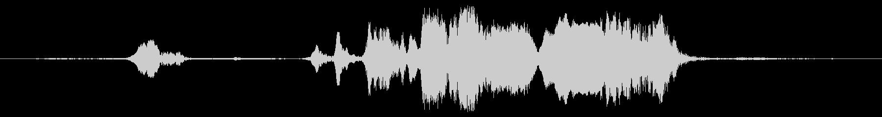 大きな研磨うめき声、長いの未再生の波形
