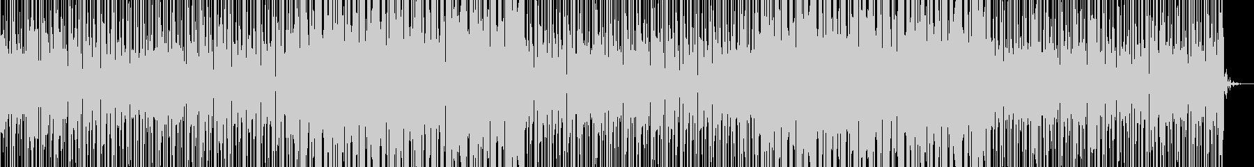いろいろな音が飛び交う緊迫シーンに合う曲の未再生の波形