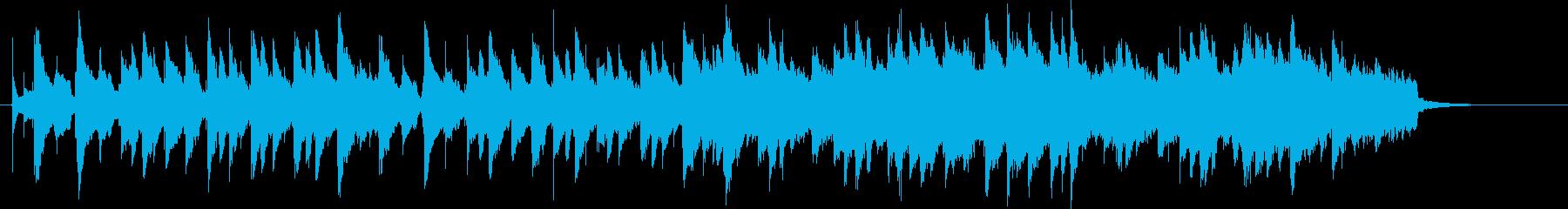 可愛らしい朝の目覚めのオルゴールの再生済みの波形