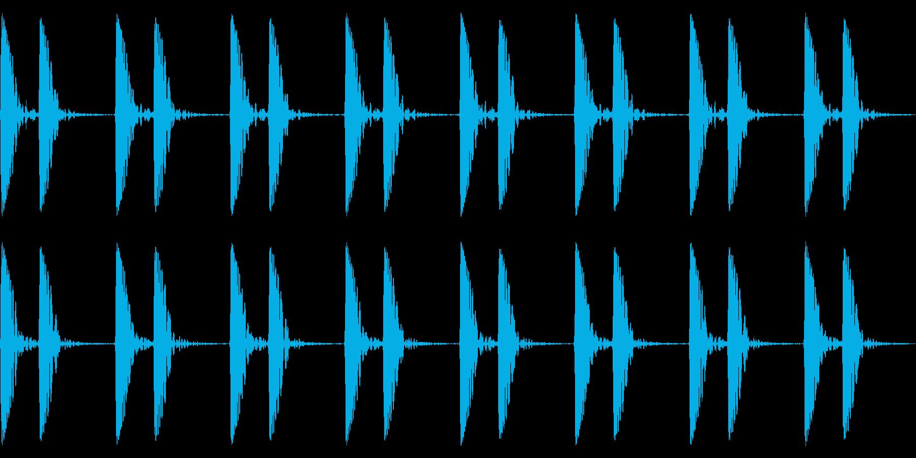 心音/ドックン/心臓の再生済みの波形