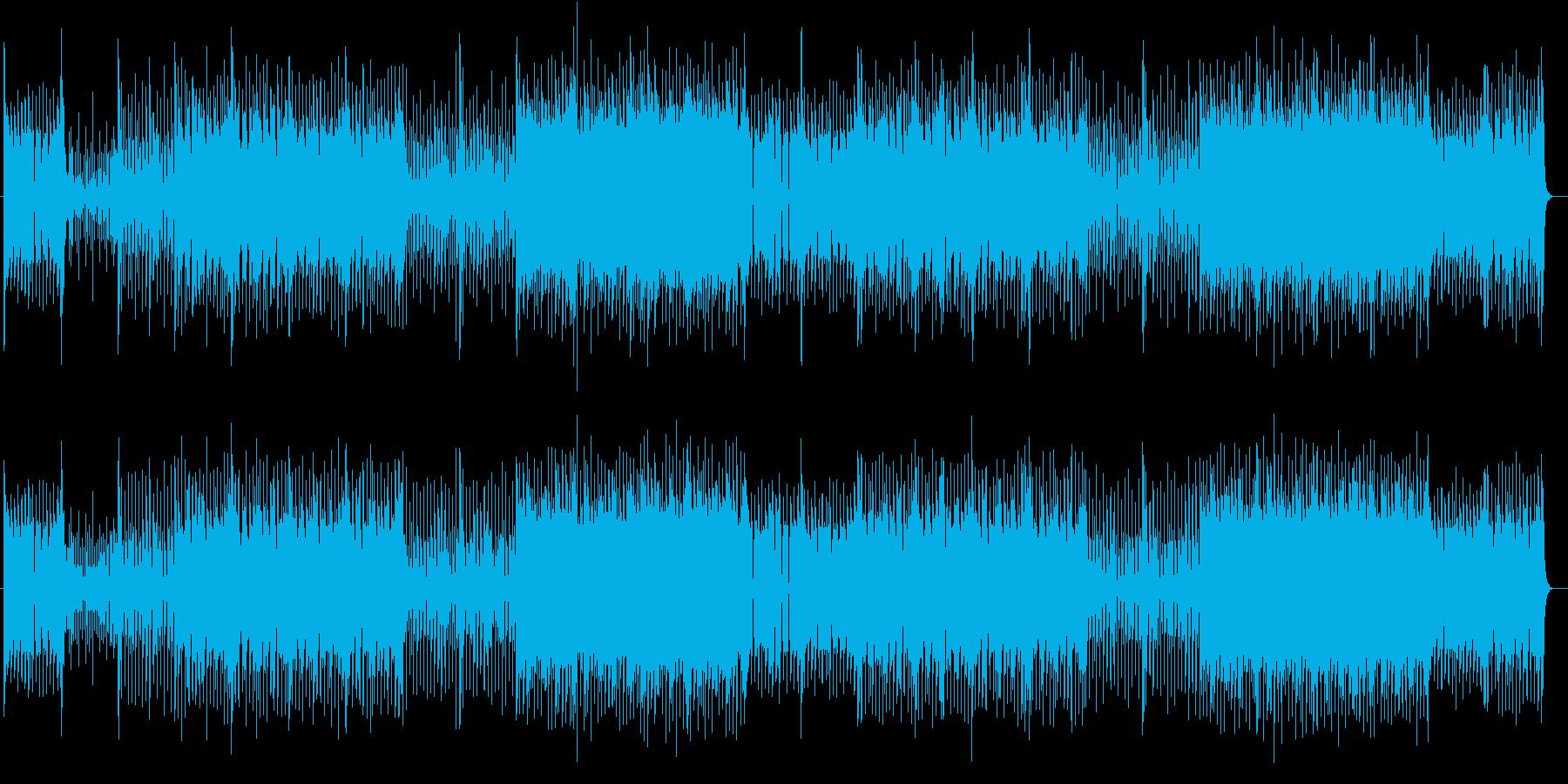 戦闘向けのサイバー系テクノの再生済みの波形