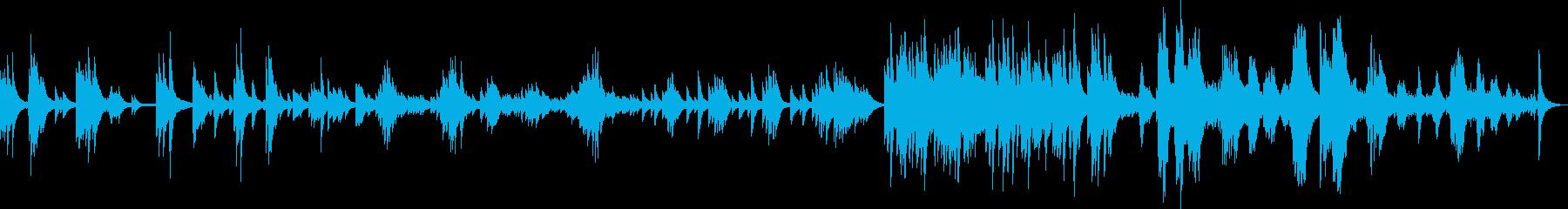 幻想的で少し切ないピアノバラードの再生済みの波形