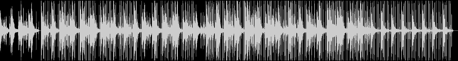 ゆったりとしたピアノLofiHihopの未再生の波形