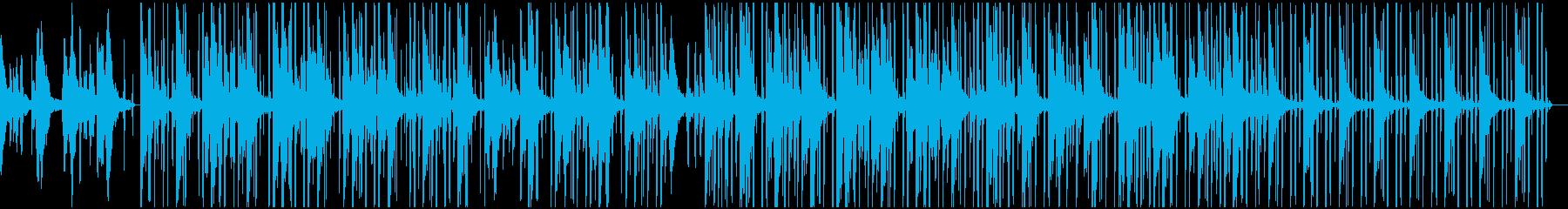 ゆったりとしたピアノLofiHihopの再生済みの波形