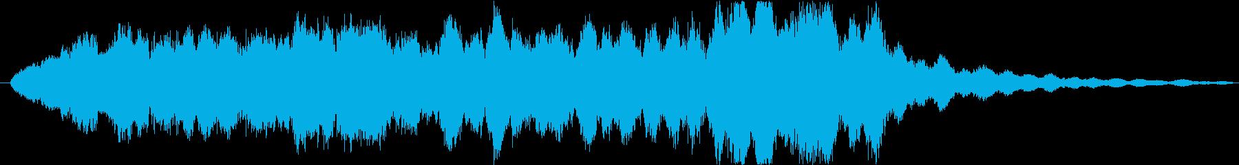 ホラーシーンの演出音_何かが出てくる音の再生済みの波形