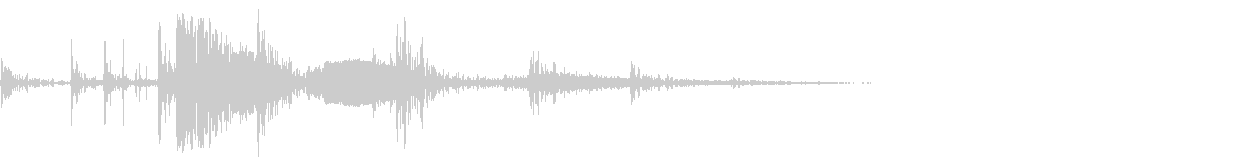 ドリンクグラスドロップとリング、フォリーの未再生の波形