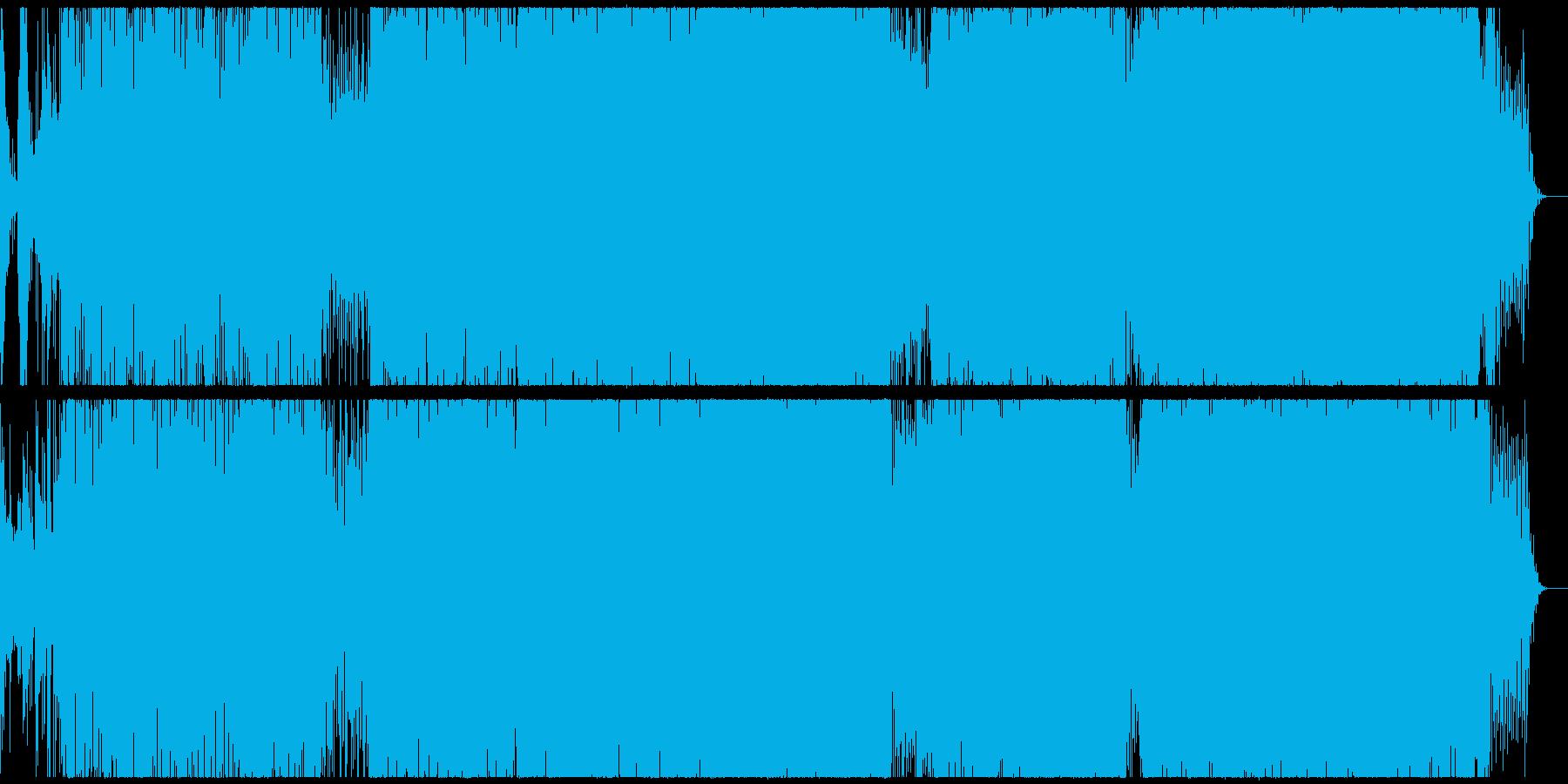 独特な雰囲気のテクノの再生済みの波形