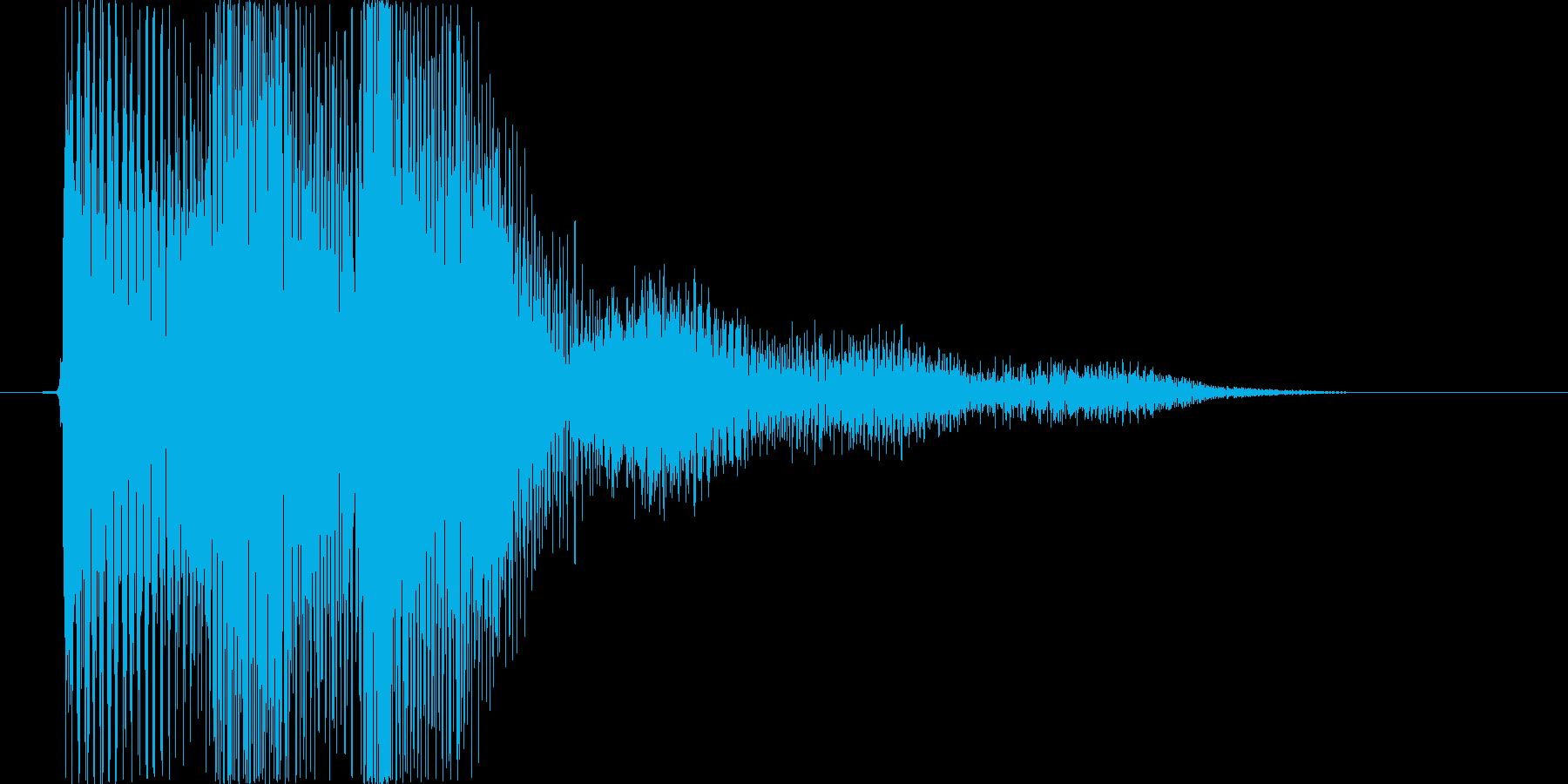 ピロリという和音のSEの再生済みの波形