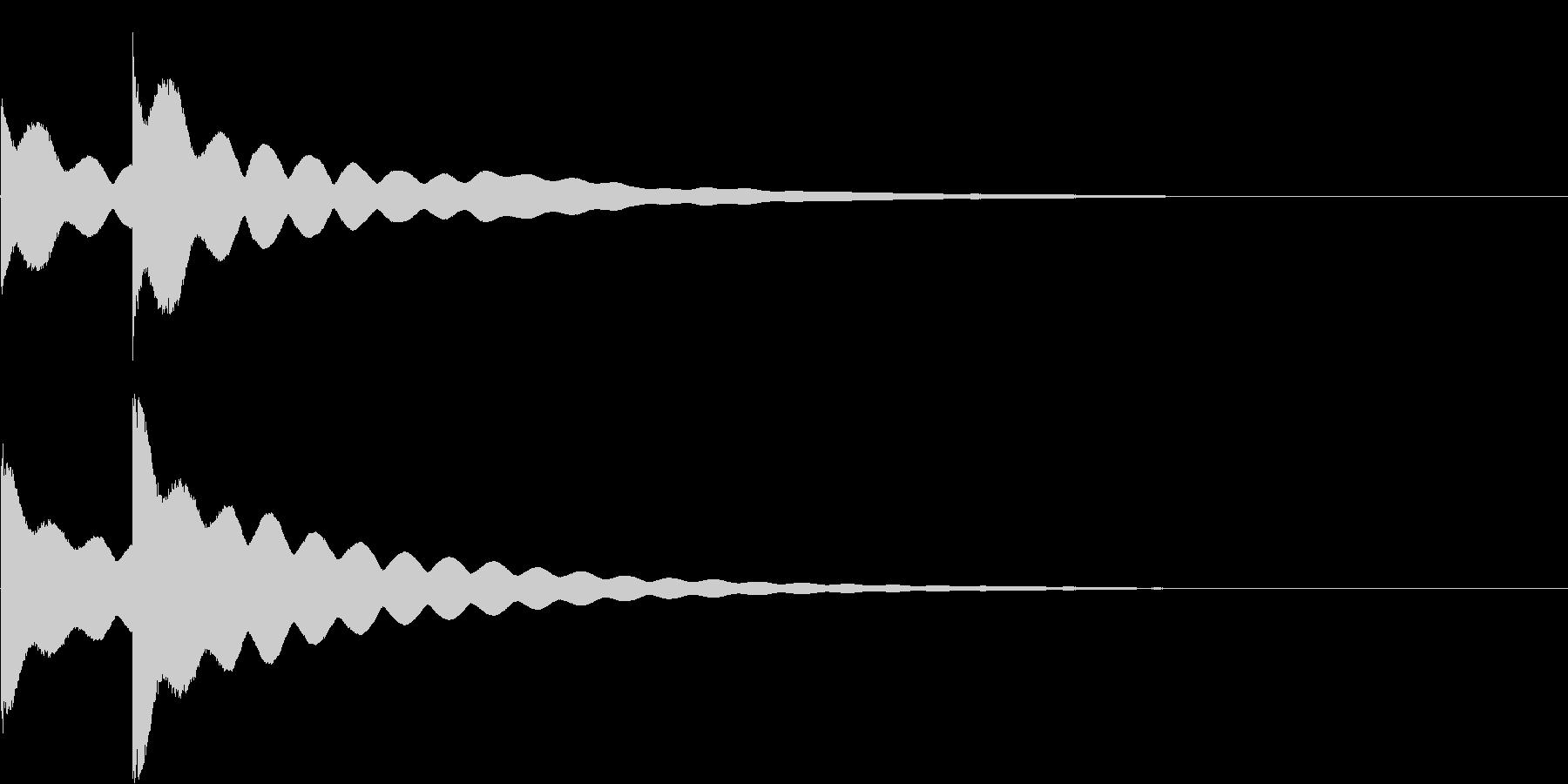 チーンチーン 仏壇の鐘の音5の未再生の波形
