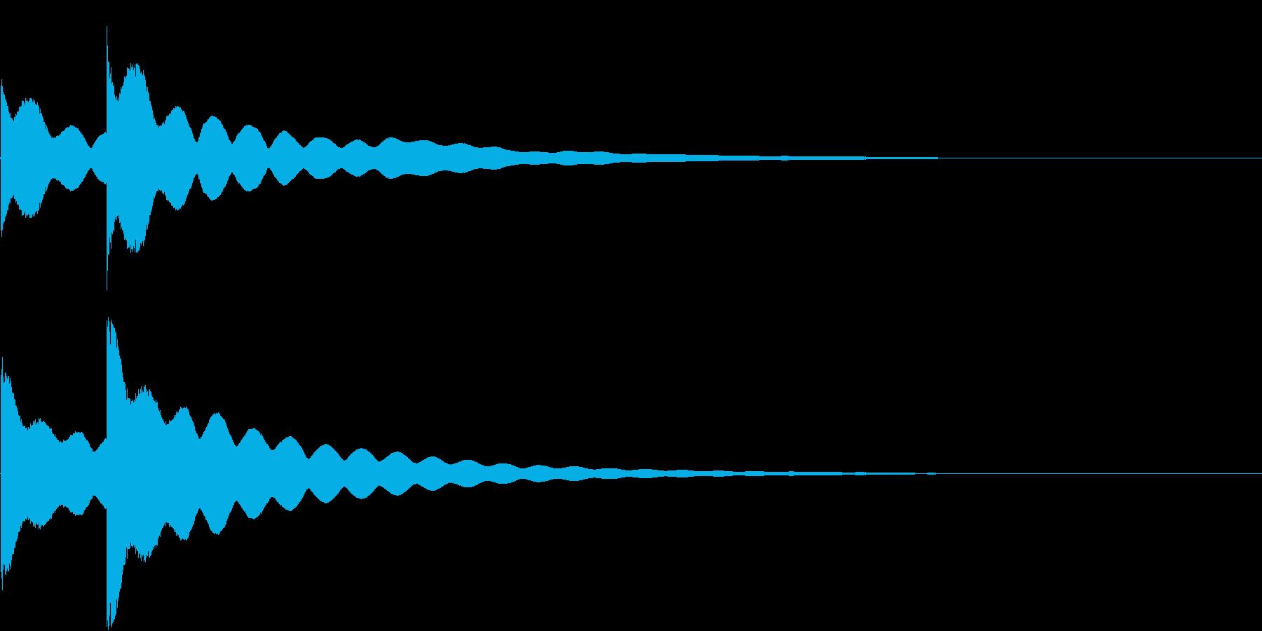 チーンチーン 仏壇の鐘の音5の再生済みの波形