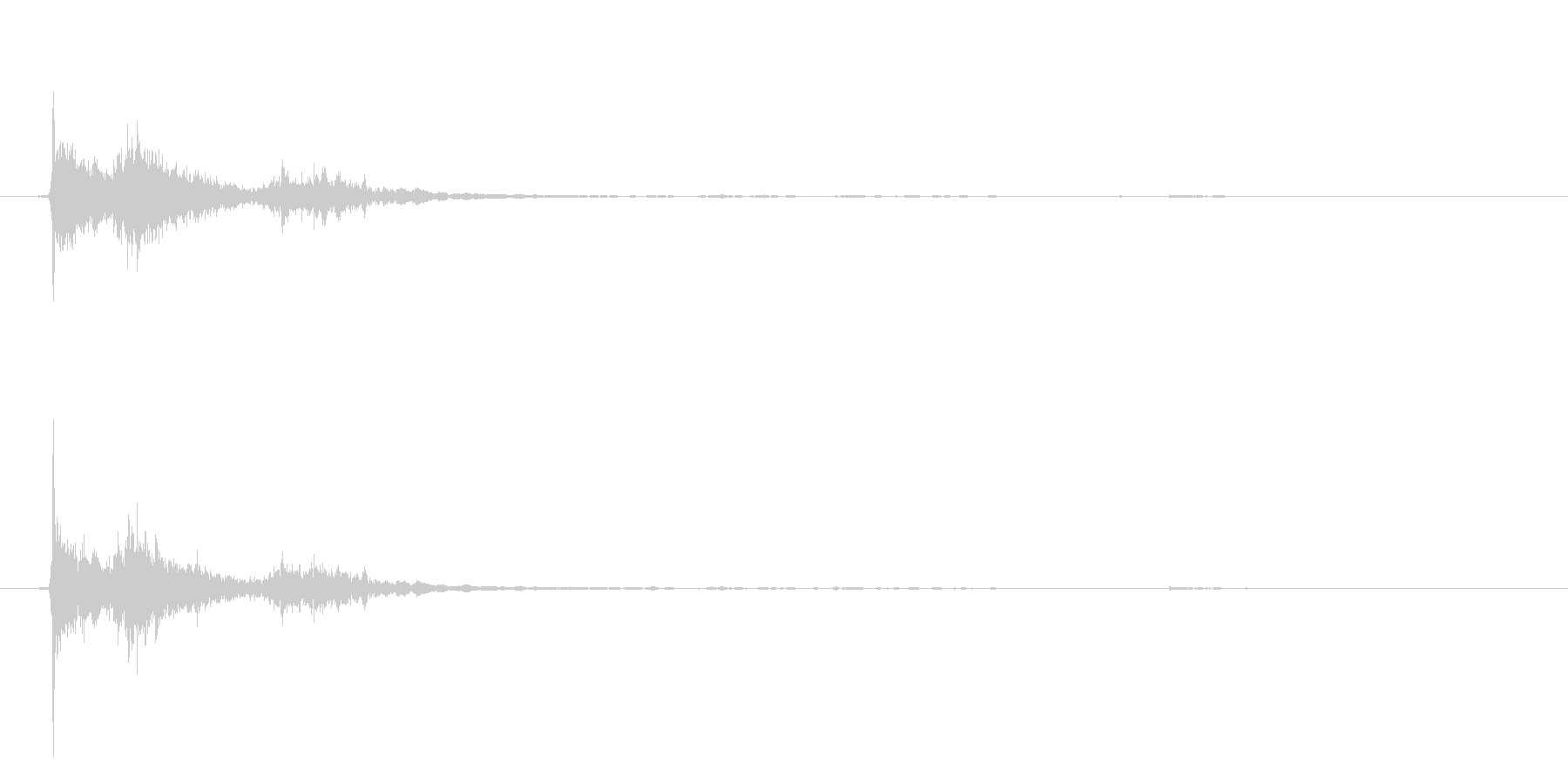 パシャンポンB(湯船に手を潜らせる)の未再生の波形