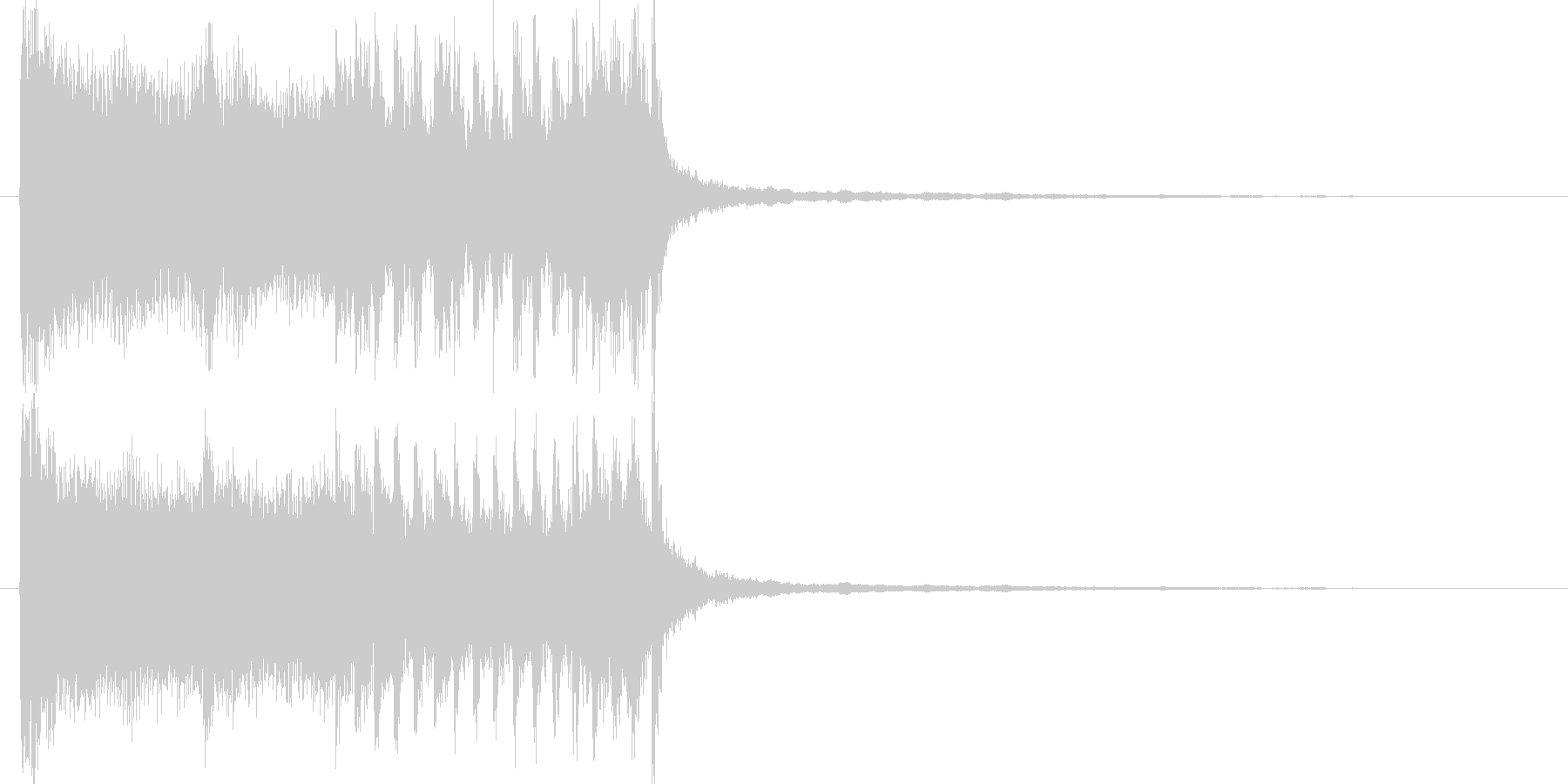ボーカルの入ったテクノ系SEの未再生の波形
