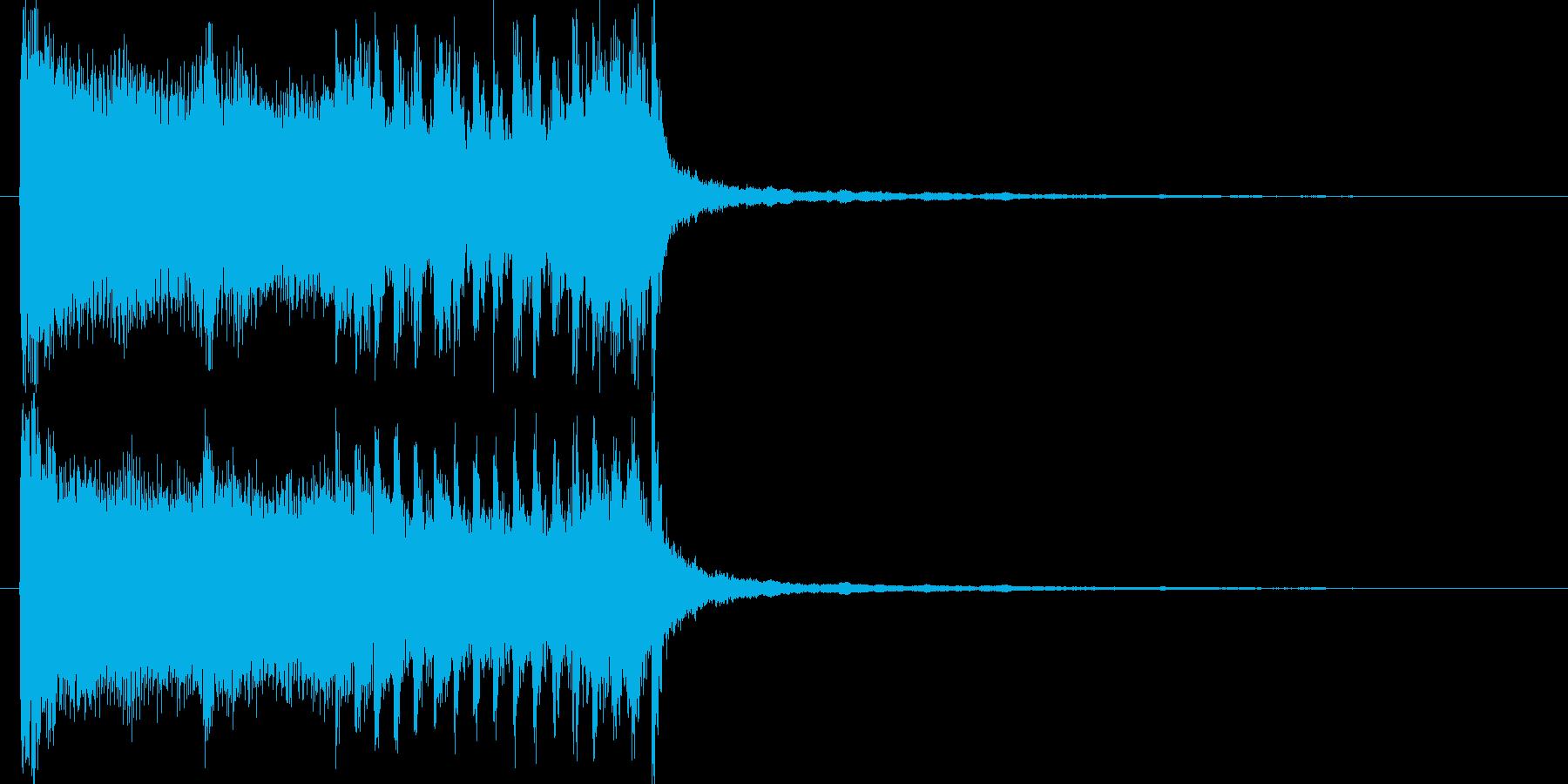 ボーカルの入ったテクノ系SEの再生済みの波形