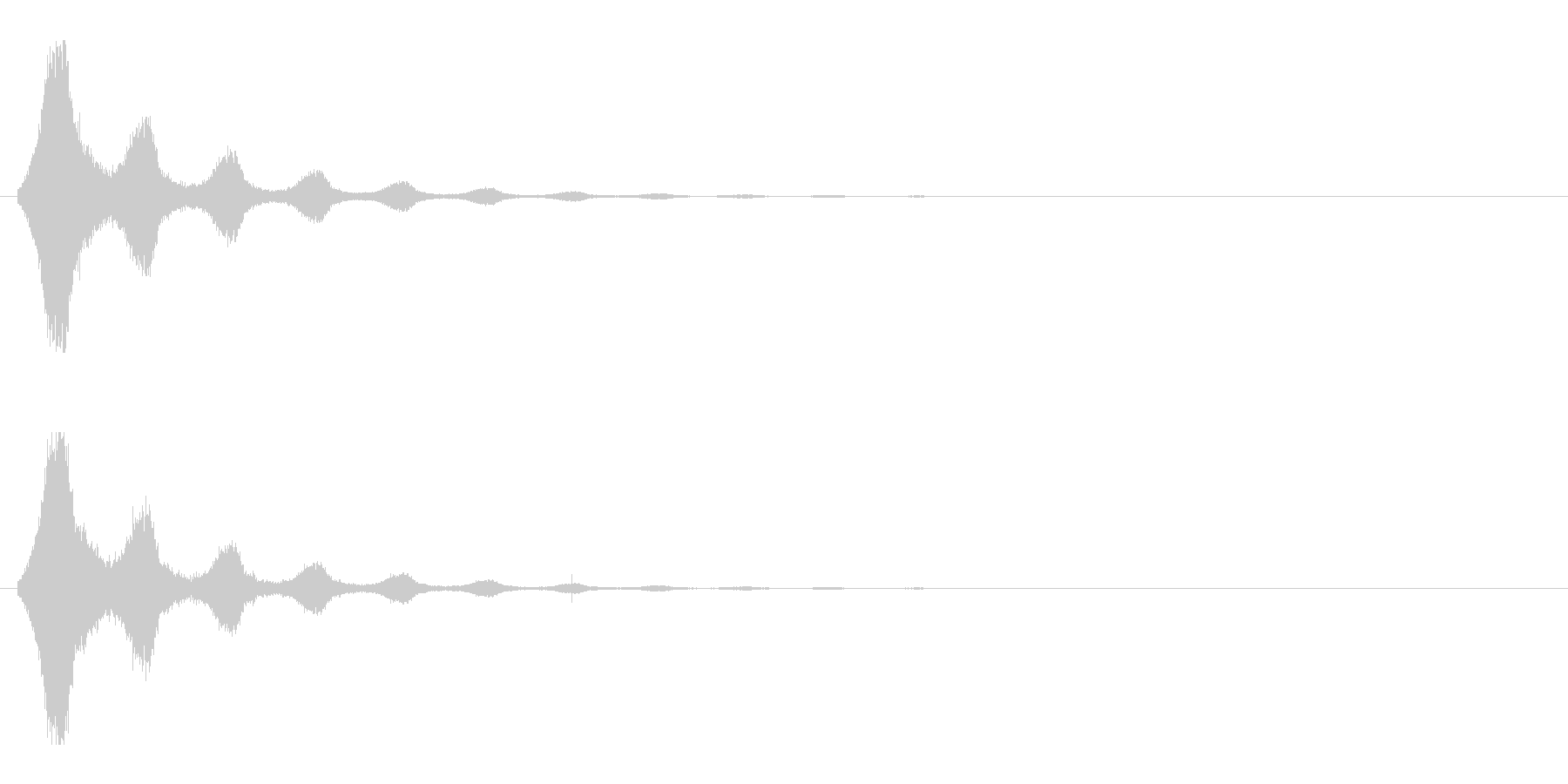 レーザー音-155-2の未再生の波形