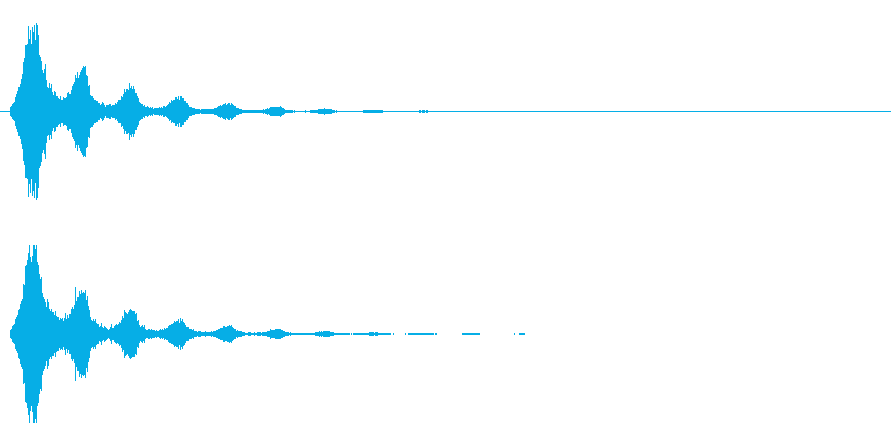 レーザー音-155-2の再生済みの波形