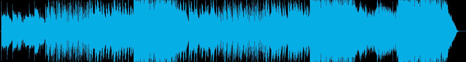 ほのぼのとした癒し系の曲の再生済みの波形