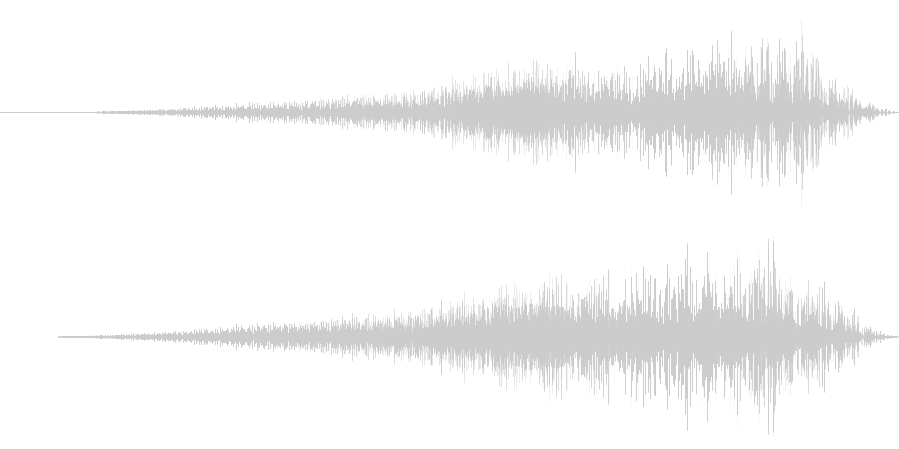 ホラー系/リバース音/場面転換の未再生の波形