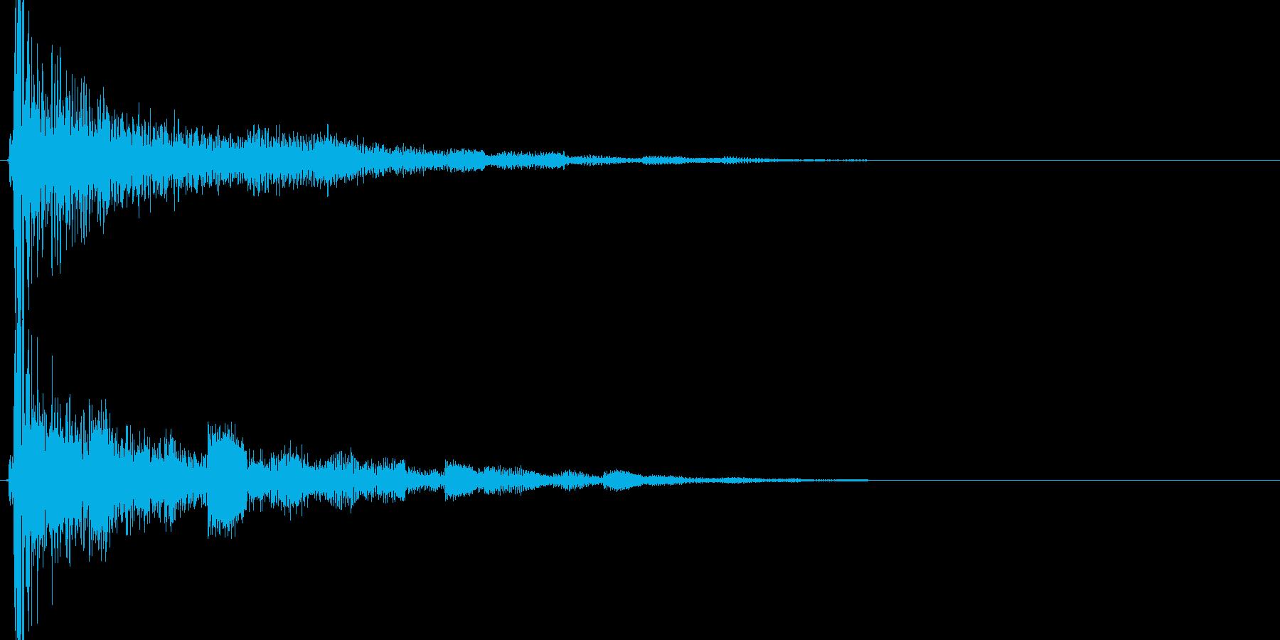ゲームのセレクト画面でつかえる効果音の再生済みの波形
