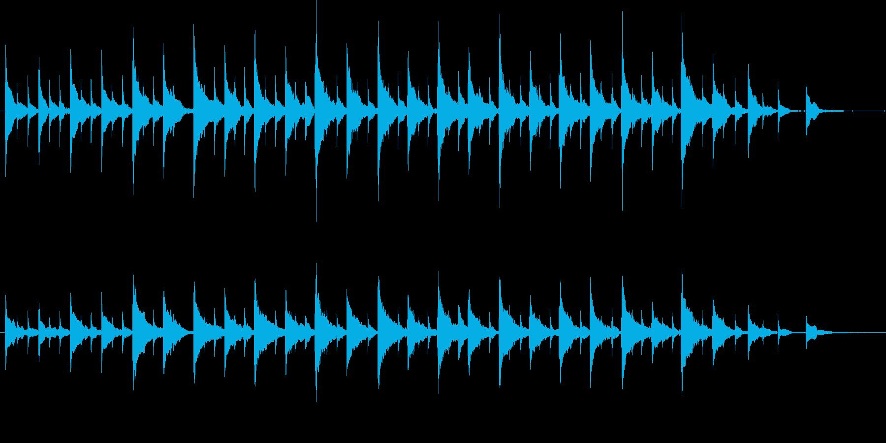 ゆったり流れるかわいいピアノとオルゴールの再生済みの波形