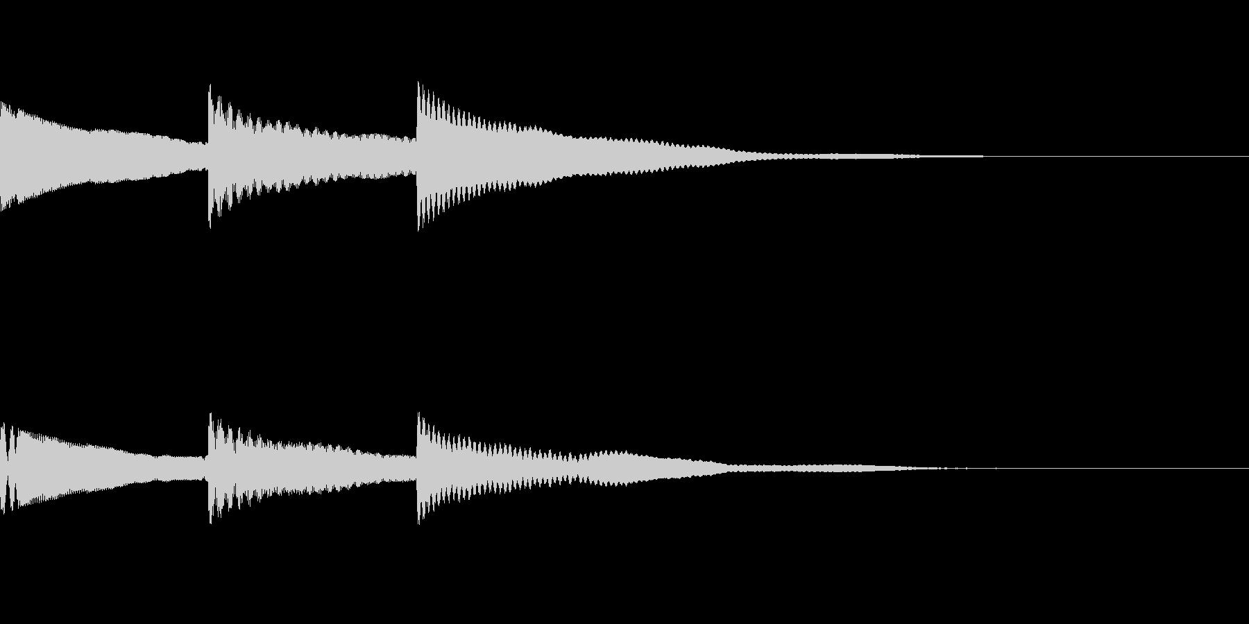 [効果音]ピンポンパン、着信音の未再生の波形