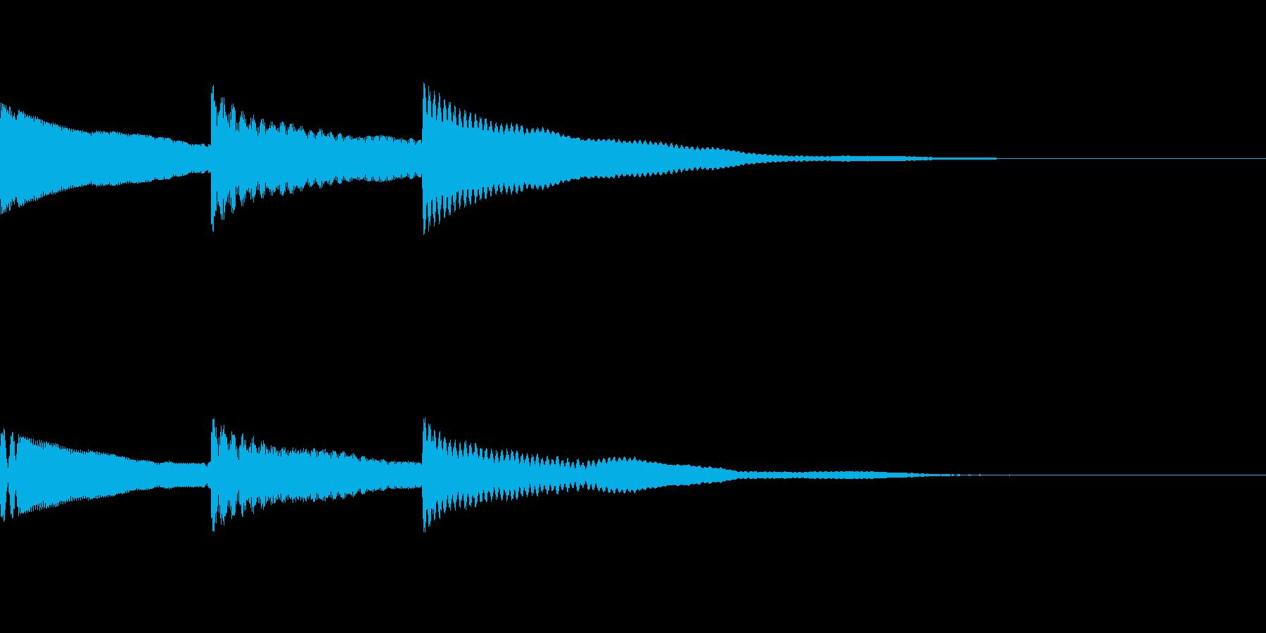 [効果音]ピンポンパン、着信音の再生済みの波形