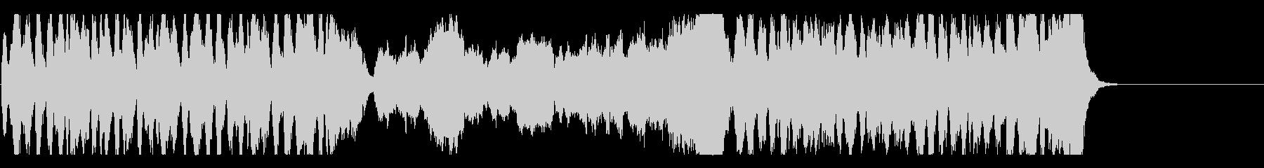 ワクワクするオーケストラBGMの未再生の波形