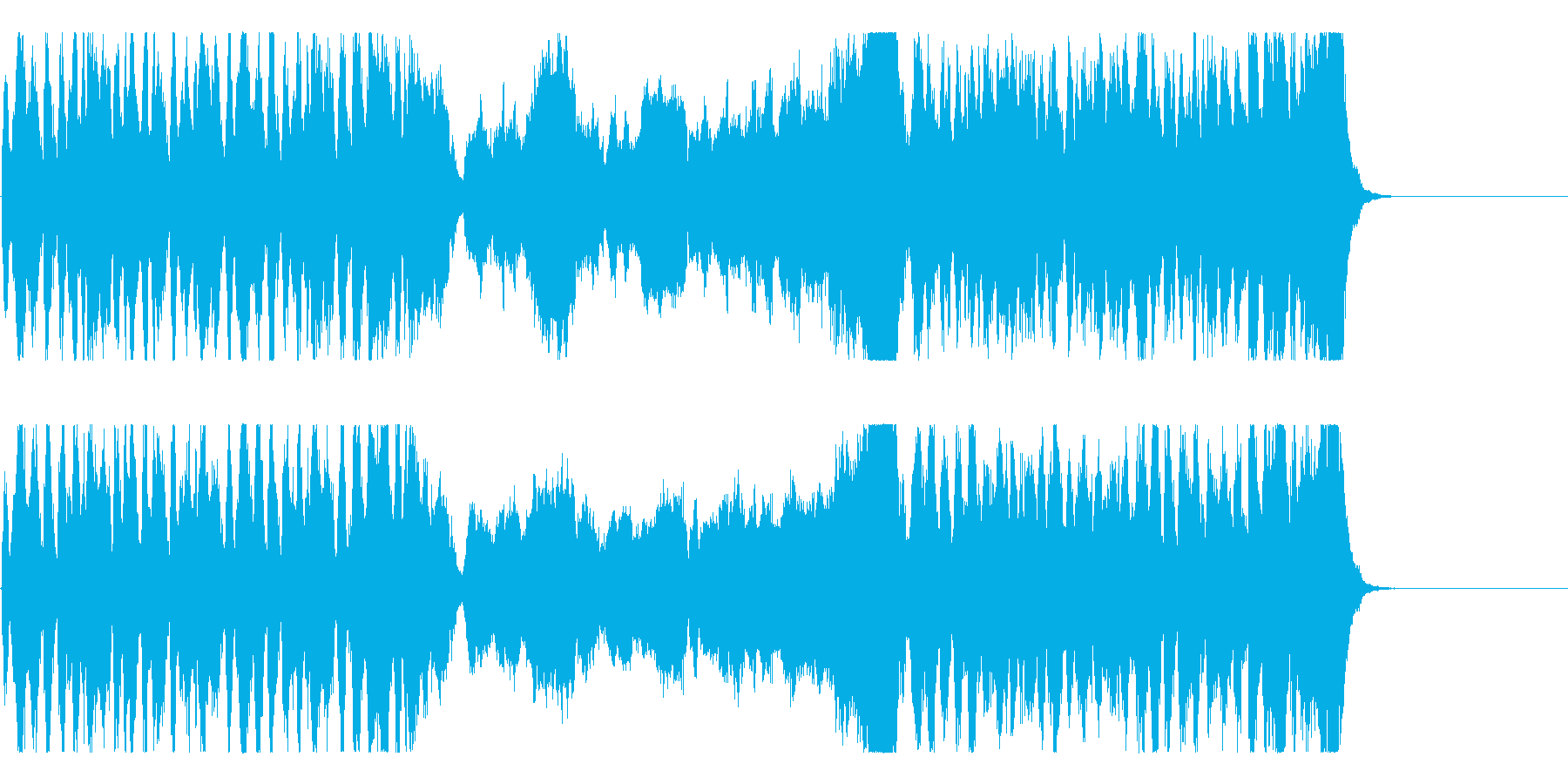 ワクワクするオーケストラBGMの再生済みの波形