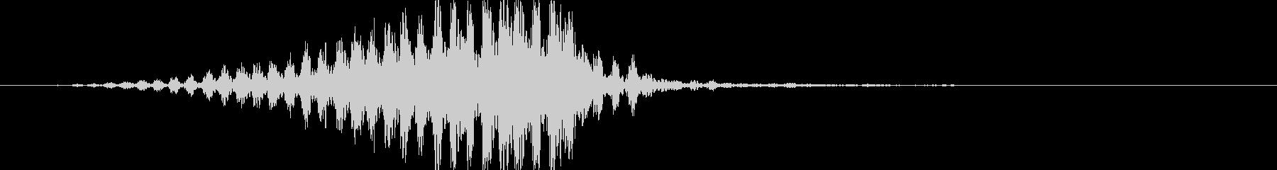 トランジション ヒューシュフラッター23の未再生の波形