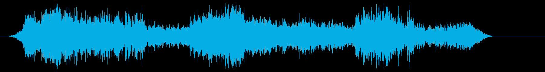 メーターの再生済みの波形