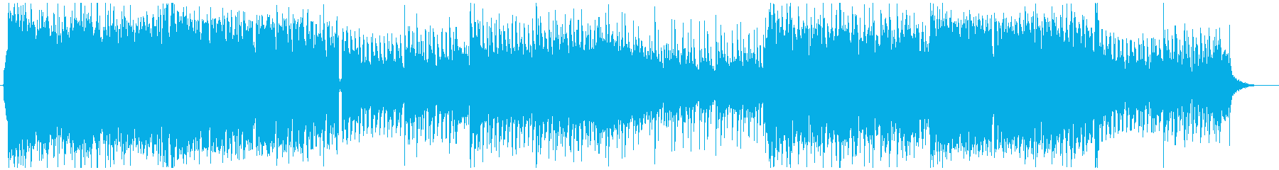 疾走感・ドラマティックなトランス系楽曲の再生済みの波形