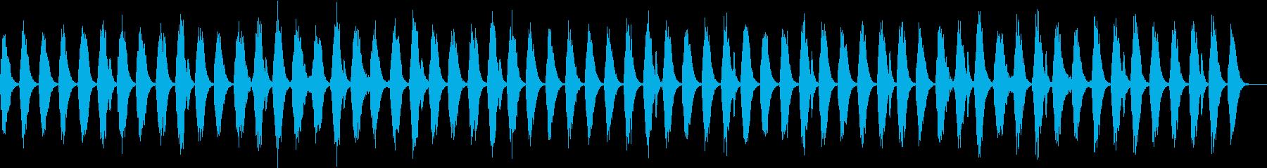 痛みを軽減して、深い眠りへ誘う音楽の再生済みの波形