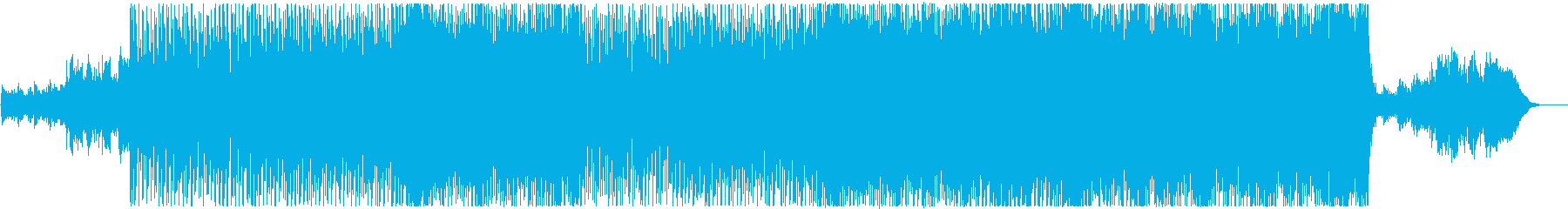 軽快でキラキラ、バイオリンの企業応援楽曲の再生済みの波形