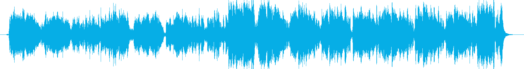 ジャズテイストの花のワルツの再生済みの波形
