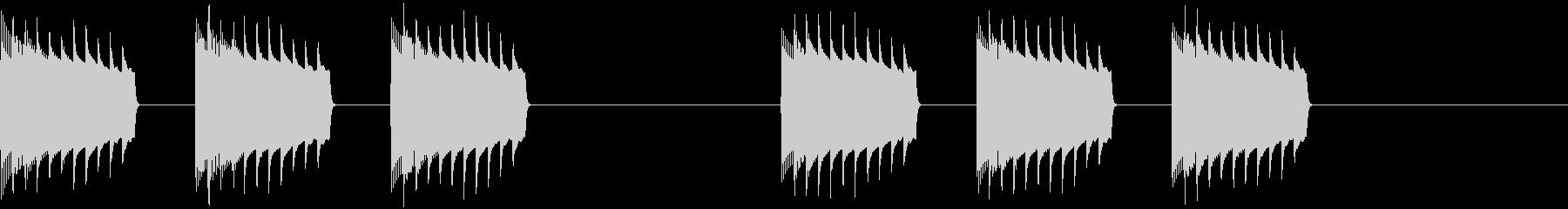 未来的・着信音・通知音・アラーム2の未再生の波形