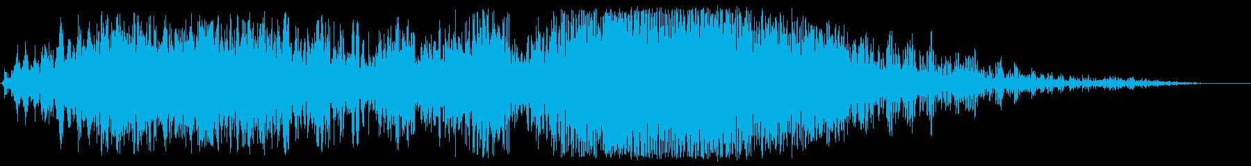 ザップスライド変換の再生済みの波形