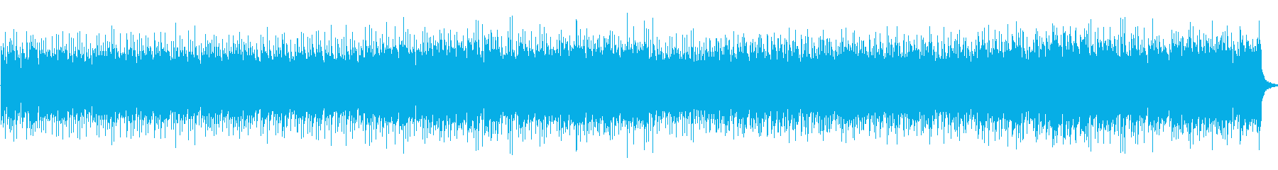 シンセとオーケストラのバトルBGMの再生済みの波形