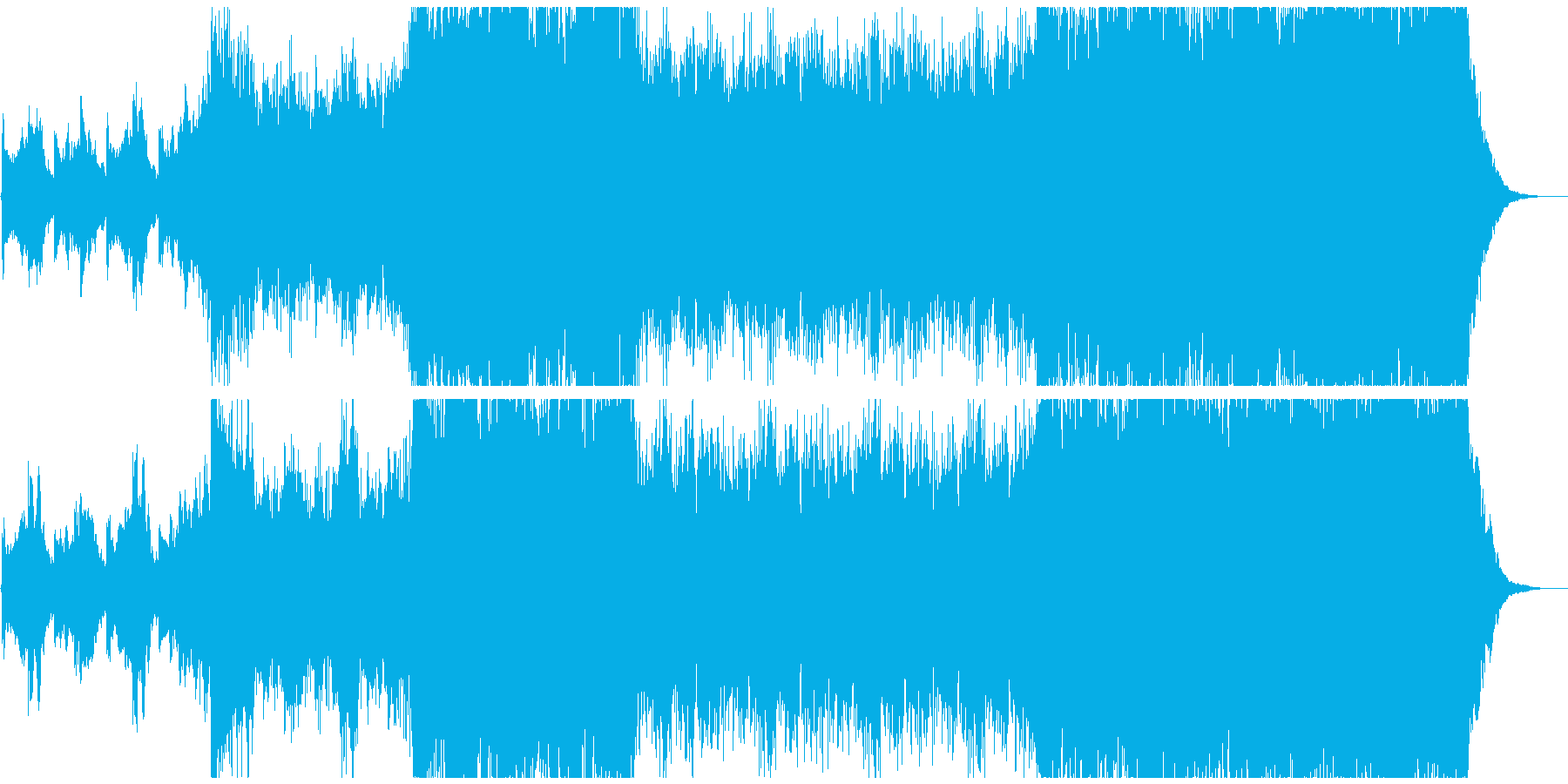 明るく感動的な映画系エピックオーケストラの再生済みの波形