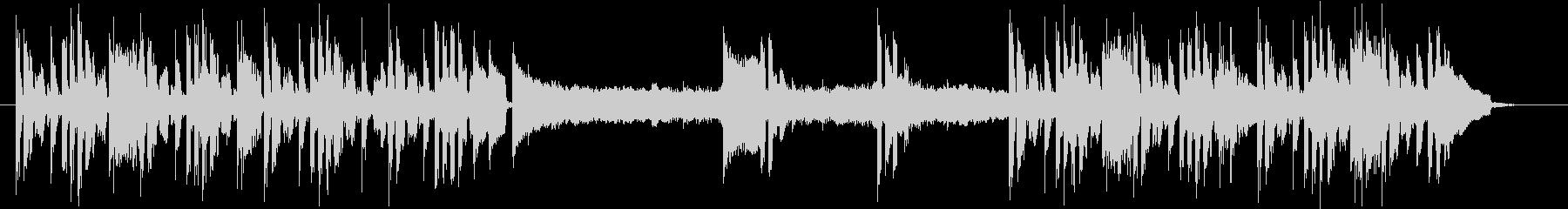 ミステリー・サスペンスの日常曲の未再生の波形