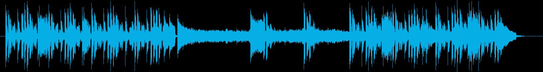 ミステリー・サスペンスの日常曲の再生済みの波形