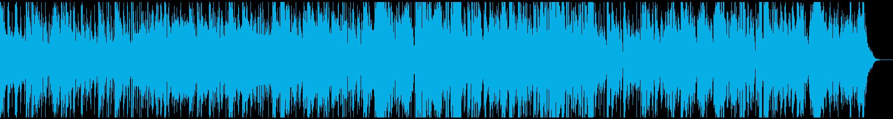 生演奏によるジャズ風サンバボサノバの再生済みの波形