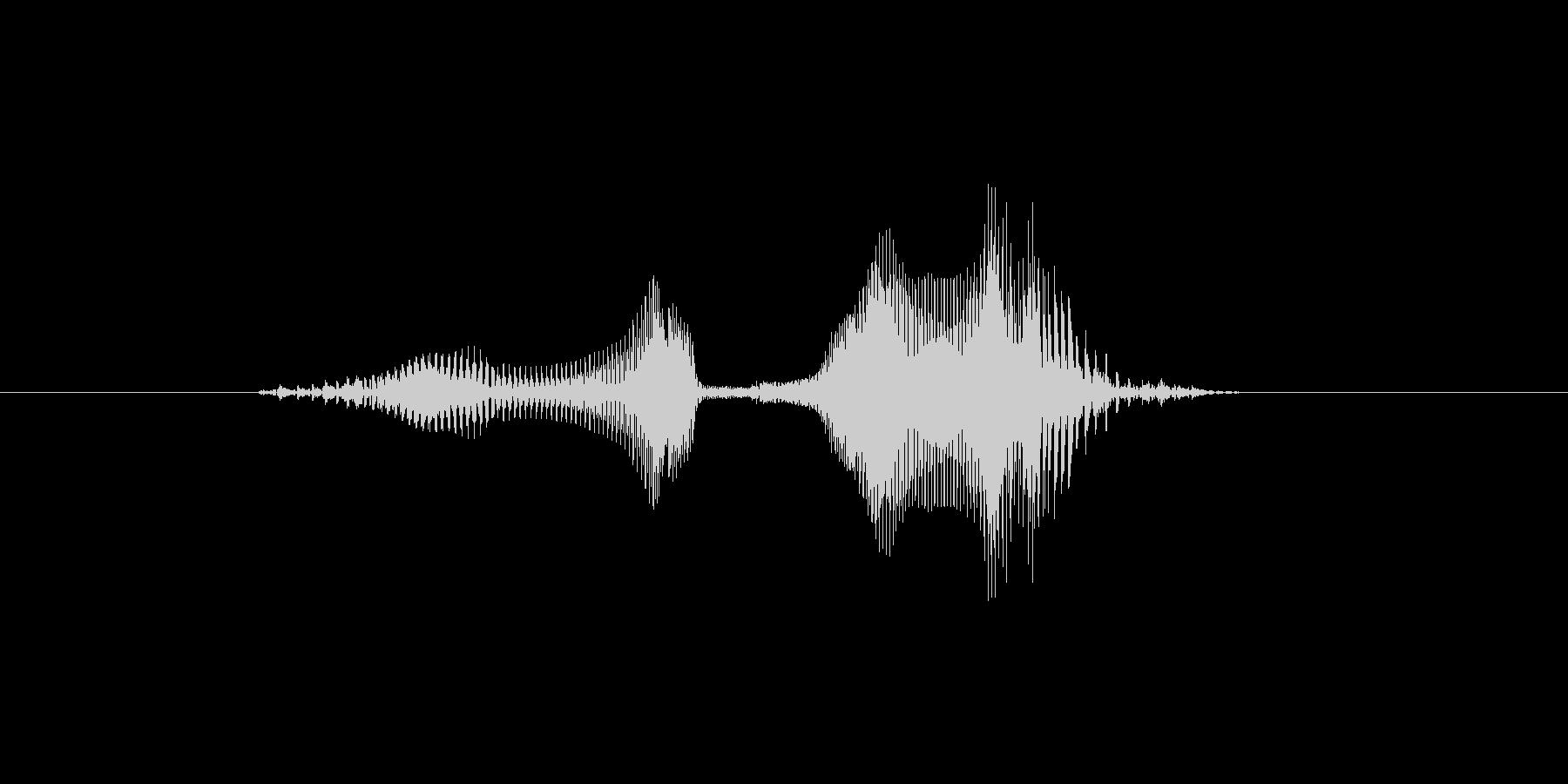 ゲーム 少年 攻撃『オウリャ!』の未再生の波形
