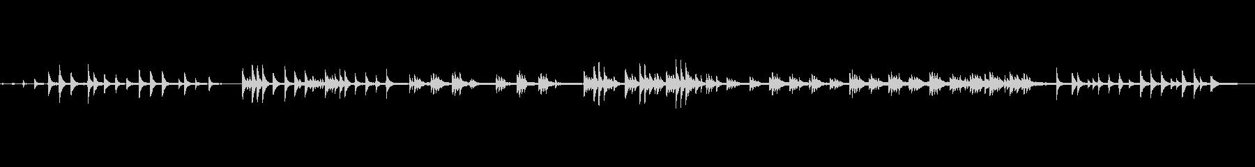VLOG/BGMあたたかく優しい生ピアノの未再生の波形