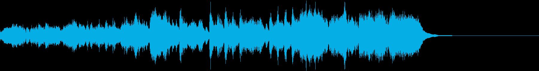 30秒強の明るく勇ましいファンファーレの再生済みの波形