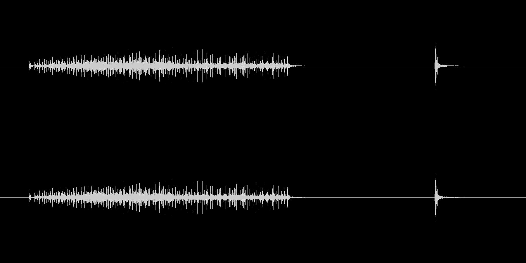 【セロテープ02-3(引く・切る)】の未再生の波形
