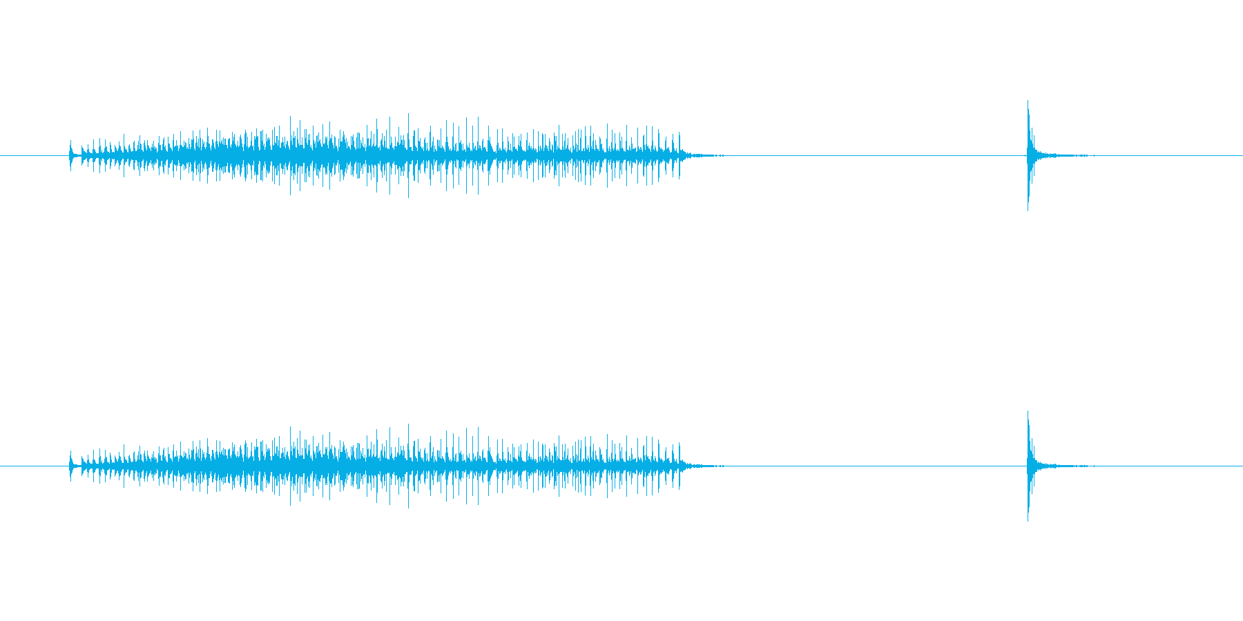 【セロテープ02-3(引く・切る)】の再生済みの波形