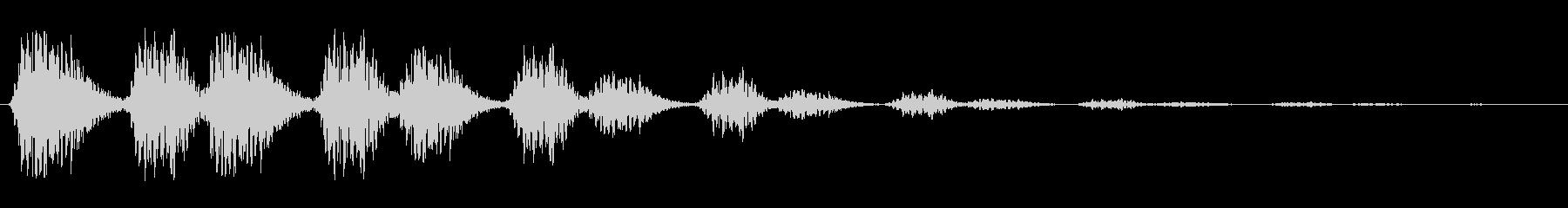 動いている何かが去る音の未再生の波形